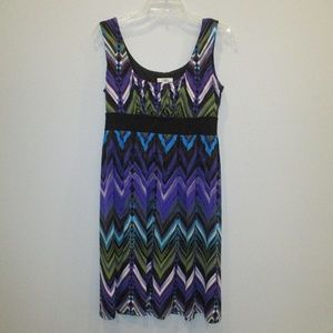 Cato Tank Dress Chevron Design Small Purple